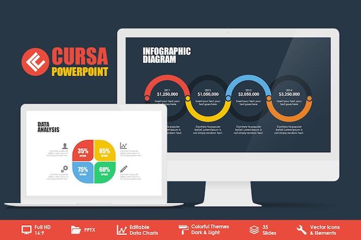 Thumbnail for Cursa Powerpoint Template