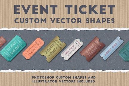 Event Ticket Custom Vector Shapes
