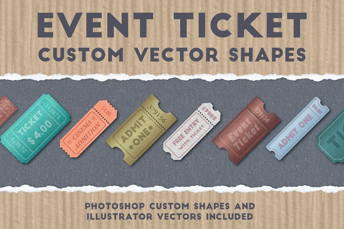 Thumbnail for Event Ticket Custom Vector Shapes