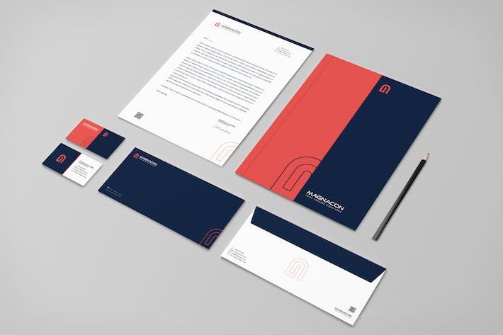 Thumbnail for Magnacon Branding Identity & Stationery Pack