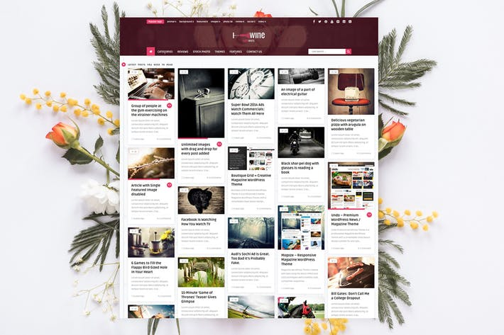 Thumbnail for Wine Personal - Creative Blog / News Theme