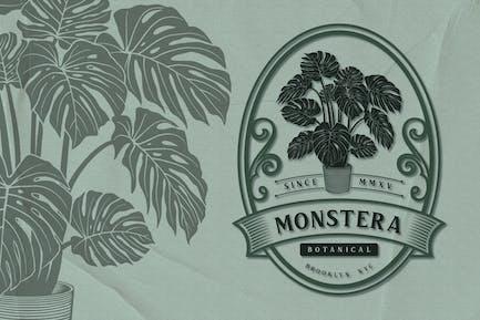 Monstera - Botanical Emblem