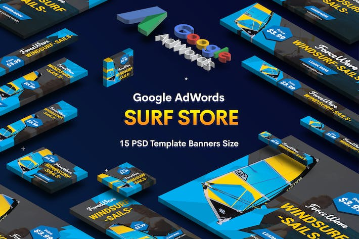 Thumbnail for Surf Board Store Banners Ad v.04