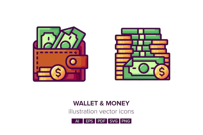 Thumbnail for Wallet-Money Illustration Vector Icons