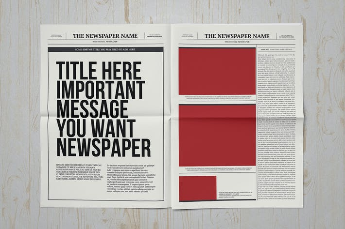 Thumbnail for Classic A3 Newspaper Template