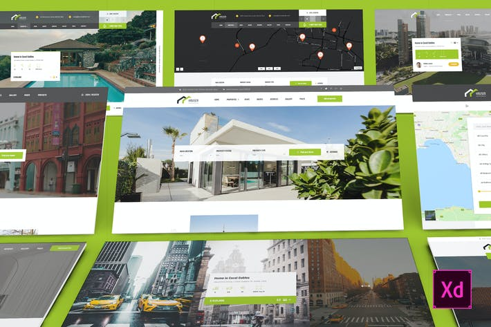 Thumbnail for Hauser - Real Estate Adobe XD Template