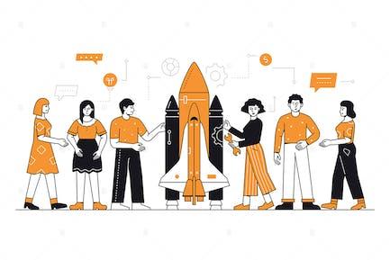 Startup Project -  Line Illustration