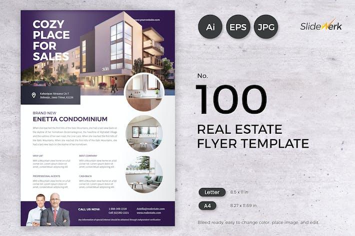 Thumbnail for Real Estate Flyer Template 100 - Slidewerk