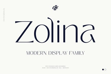 Zolina - Modern Font family