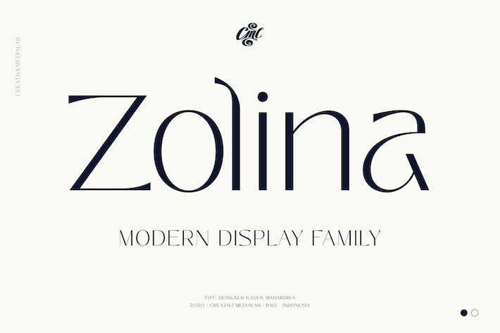 Thumbnail for Zolina - Modern Font family