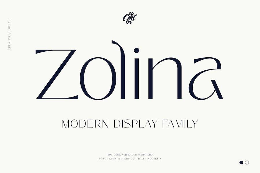 Zolina - Modern Familia tipográfica