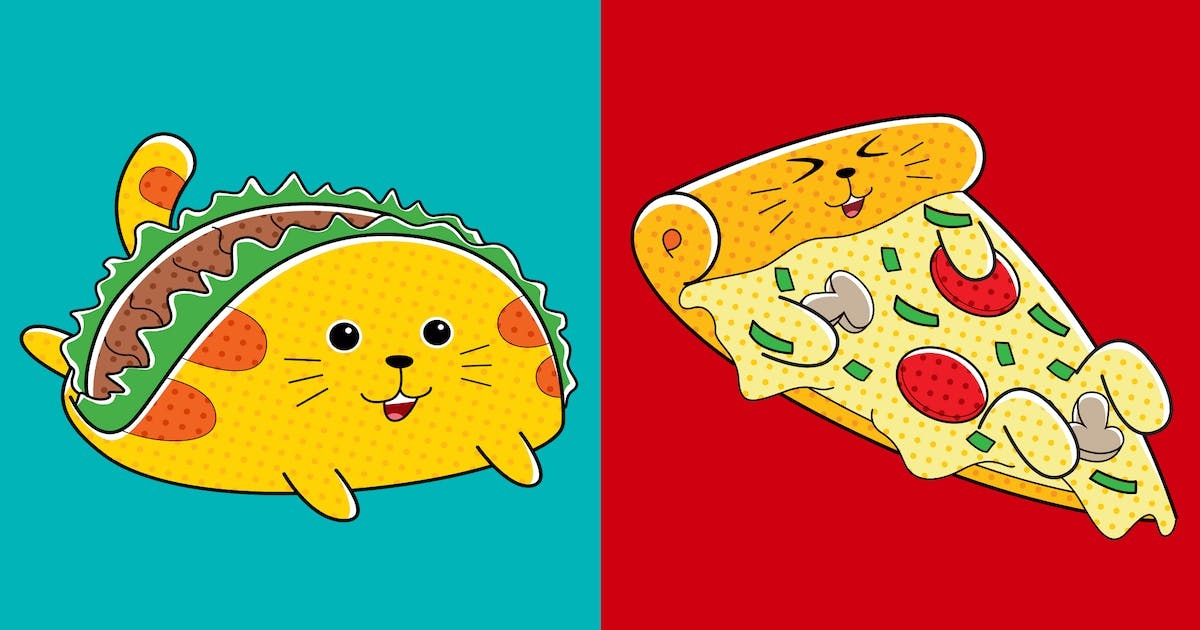 Download Cats Fast Food (Pizza & Taco) by medzcreative