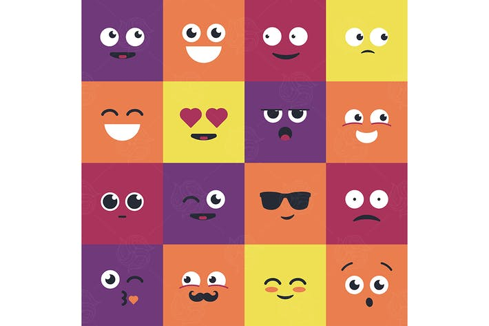Thumbnail for Smiles - modern vector set of emoji illustrations.