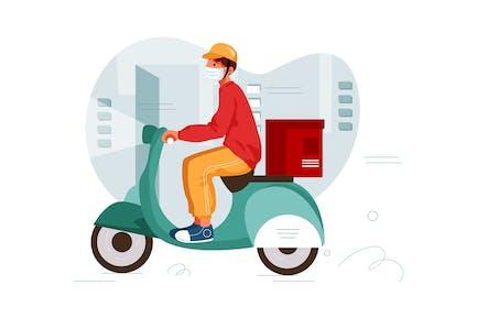 Food Delivery Illustration concept