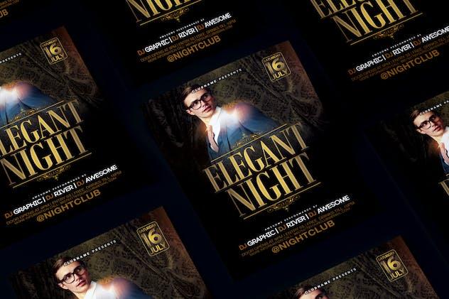 Elegant Night Flyer