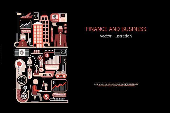 Thumbnail for Finance and Business vector illustration