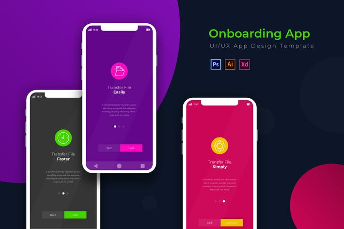 Thumbnail for Onboarding | App Design Template