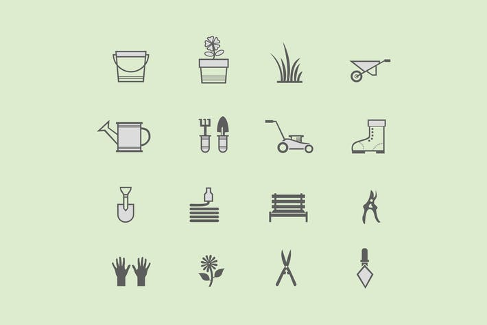 Thumbnail for 16 Gardening Icons
