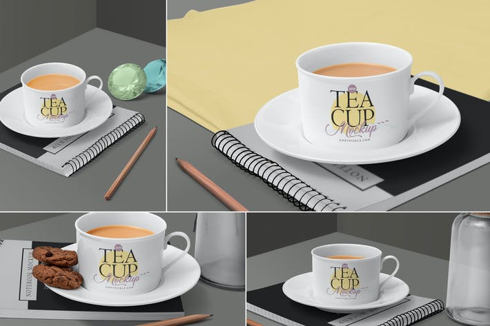 Thumbnail for Tea Cup Mockup Scenes