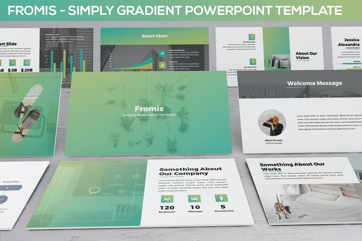 Fromis - Simply Gradient Powerpoint Template