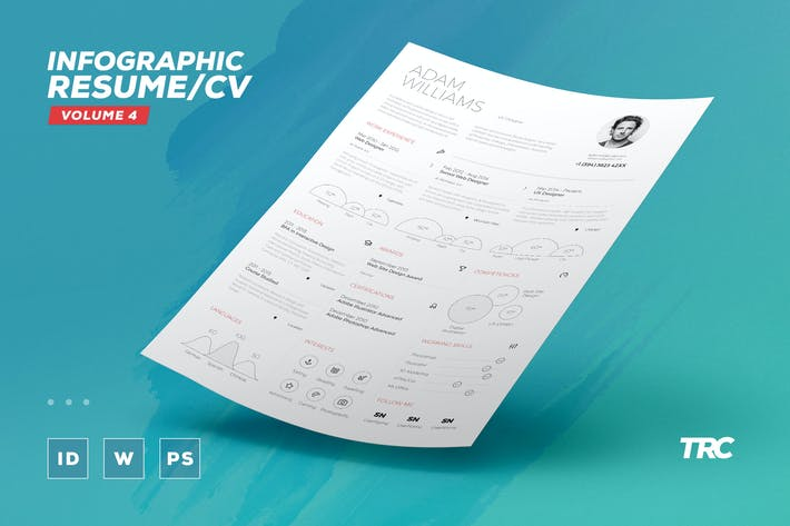 Thumbnail for Infographic Resume/Cv Volume 4