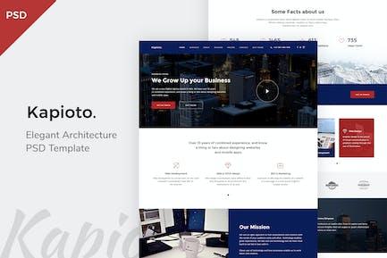 Kapioto - Corporate OnePage PSD Template