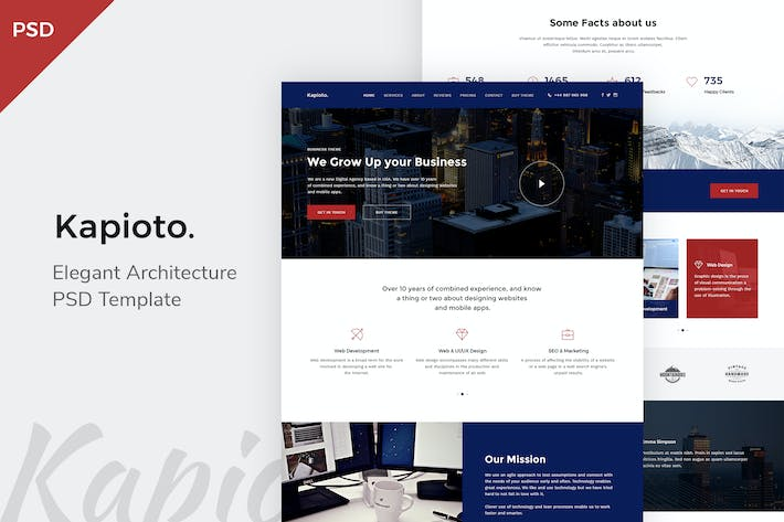 Thumbnail for Kapioto - Corporate OnePage PSD Template
