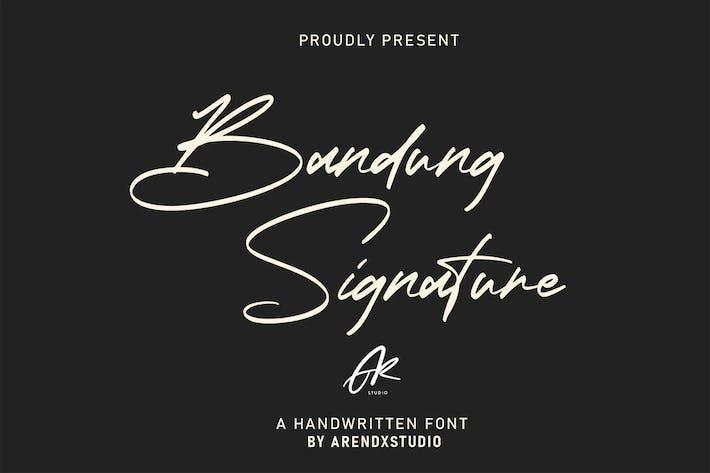 Thumbnail for Bandung Signature | Modern Font