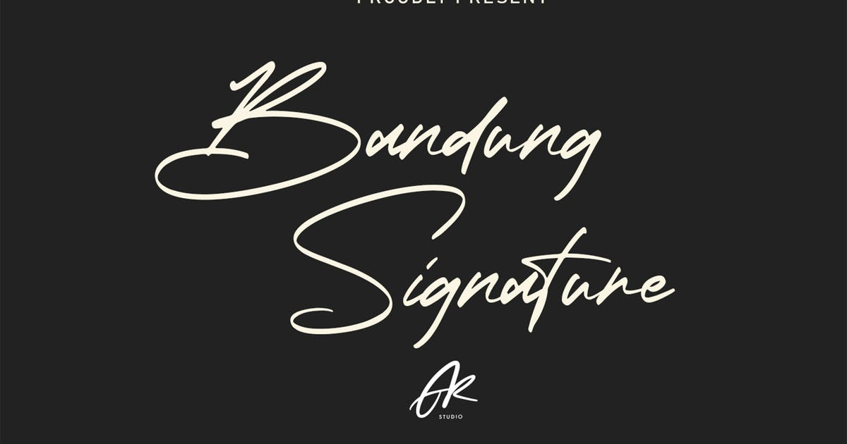 Download Bandung Signature   Modern Font by arendxstudio
