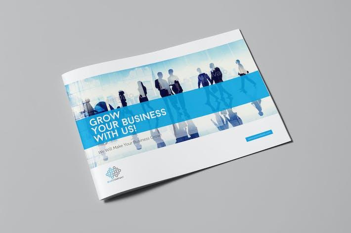 Thumbnail for Blue Corporate Horizontal Brochure