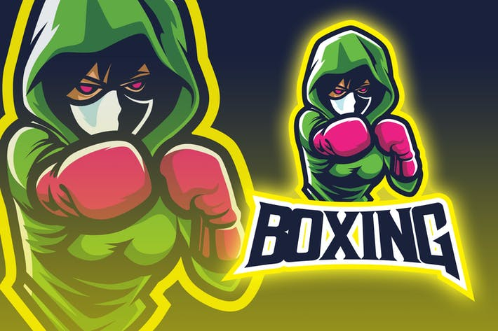 Thumbnail for Green Hoody Boxer Esport Logo
