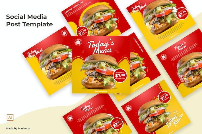 Thumbnail for Mise en page du message social de Burger Media