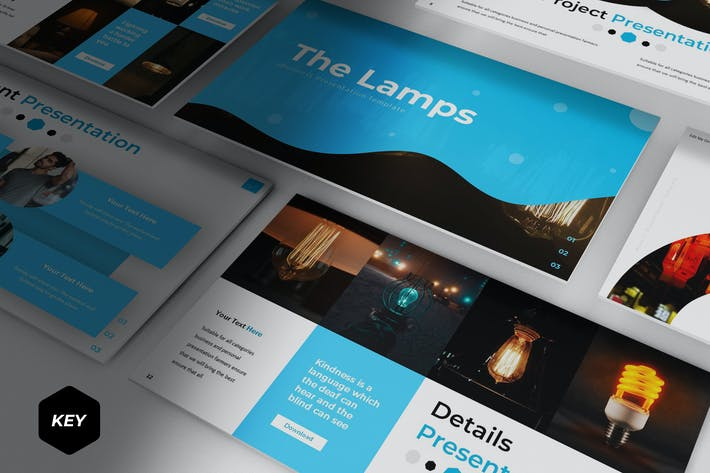 Thumbnail for The Lamps - Keynote Template