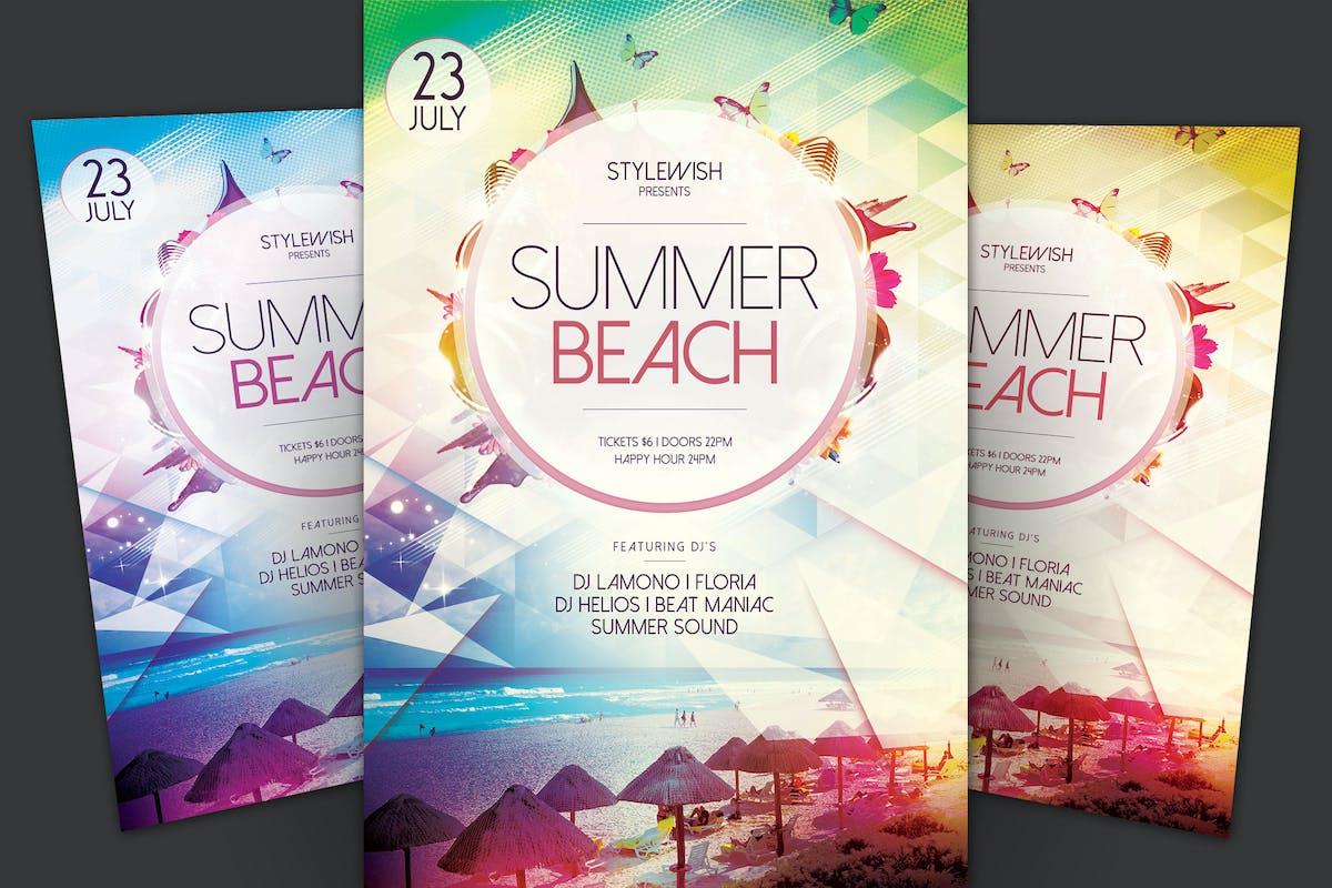 Beste Strand Party Flyer Vorlage Ideen - Beispiel Anschreiben für ...