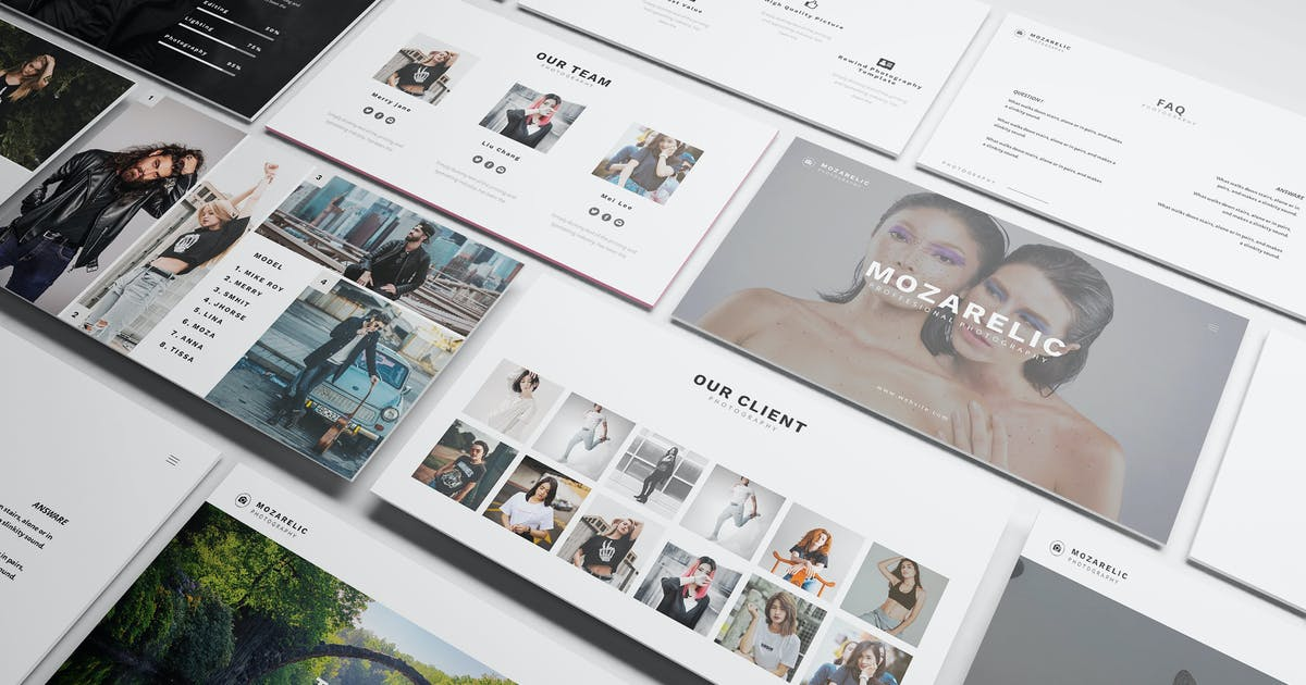 Download Mozarelic Photography Powerpoint Template by Formatika