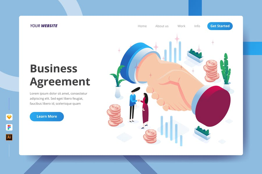 Business Agreement - Landing Page