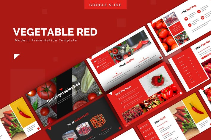 Thumbnail for The Vegetables - Google Slides Template