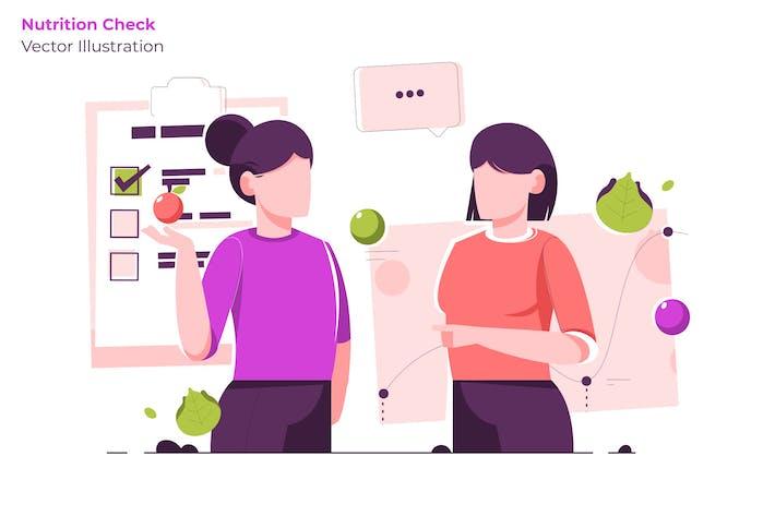 Проверка питания - Вектор иллюстрация
