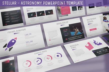 Stellar - Plantilla Powerpoint de astronomía