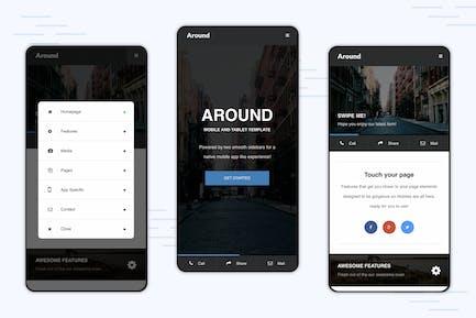 Around | Mobile Modal Focused Site Template