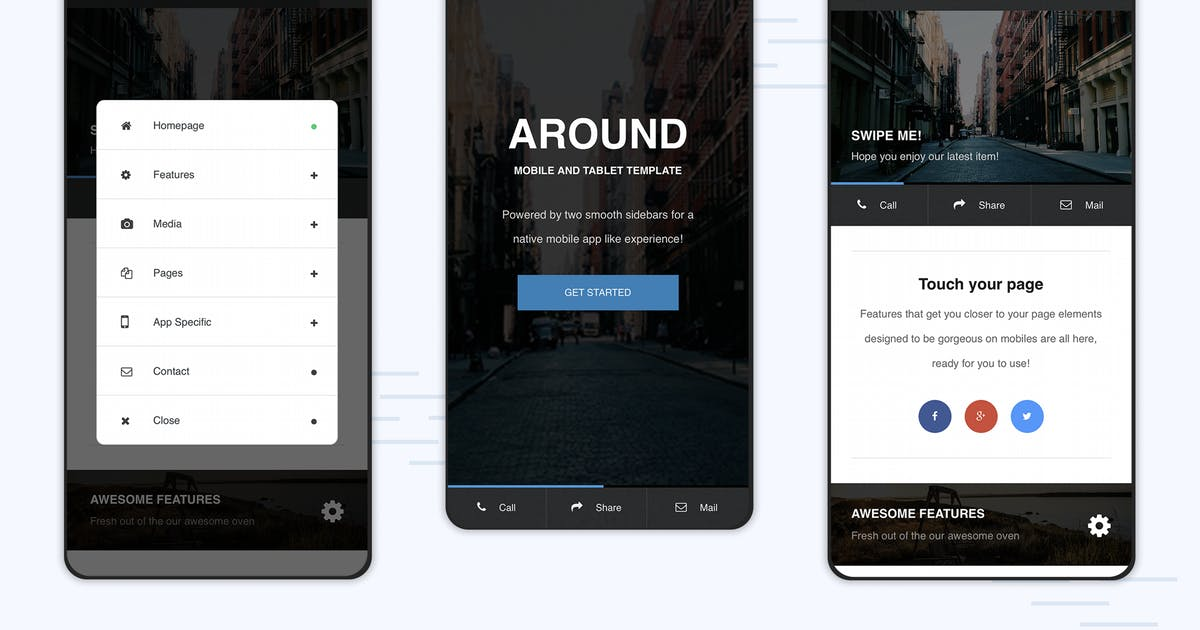 Download Around | Mobile Modal Focused Site Template by Enabled