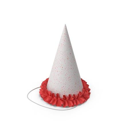 Sombrero de fiesta con volante rojo