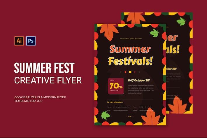 Thumbnail for Festival d'été - dépliant