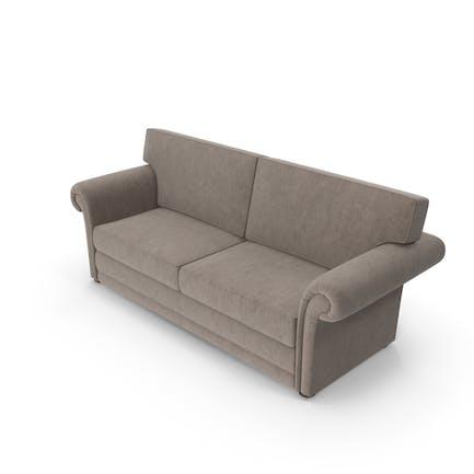 Sofá clásico de terciopelo