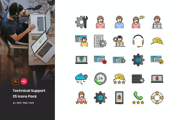 Thumbnail for Technical Support Icons Pack