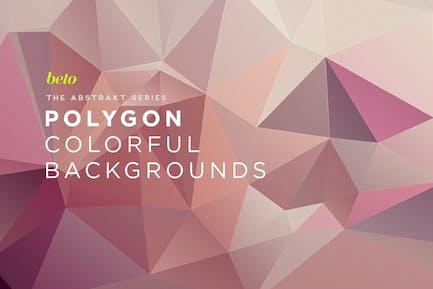 Abstrakte Polygon-Hintergründe V17