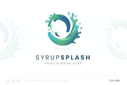 Splash Color Twisted Logo Tremplate