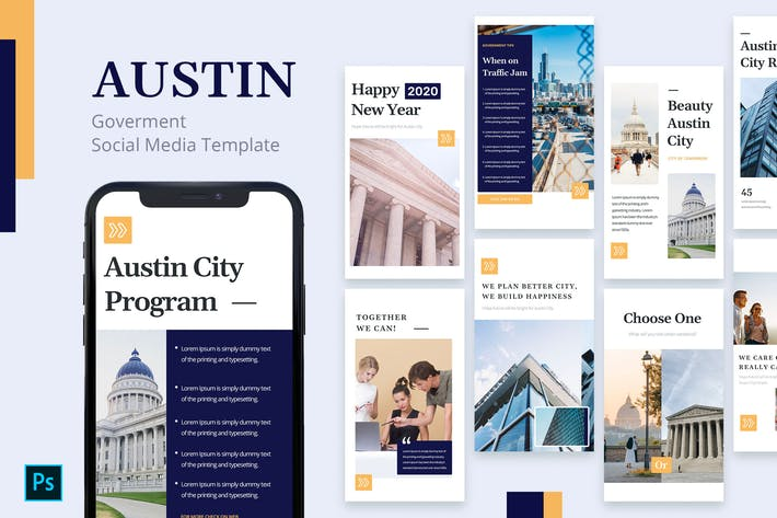 Thumbnail for Austin - Government Instagram Story Template
