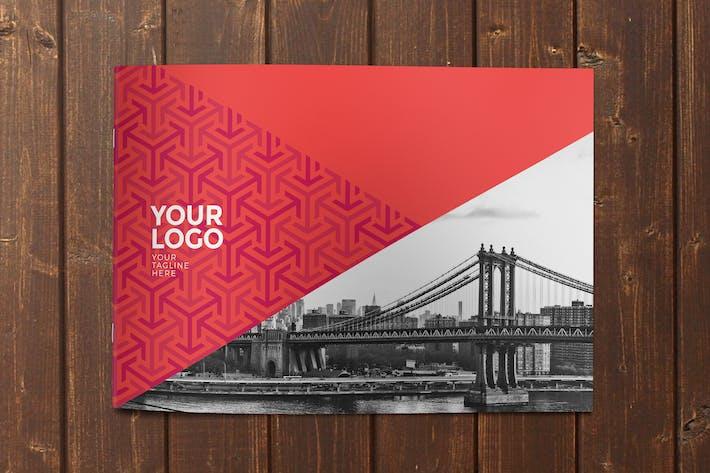 Thumbnail for Modern Red Pattern Brochure