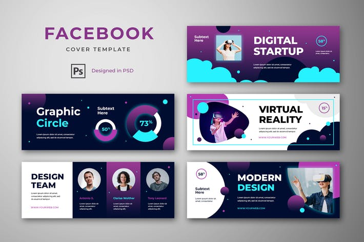 Thumbnail for Facebook Cover Template Graphic Design